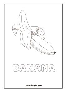 Banana Coloring Pages
