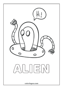 Alien Coloring Pages