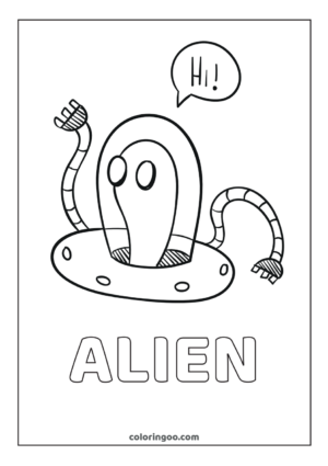 Alien Coloring Pages