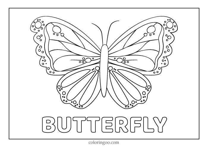 Butterfly Printable Coloring Pages For Kids