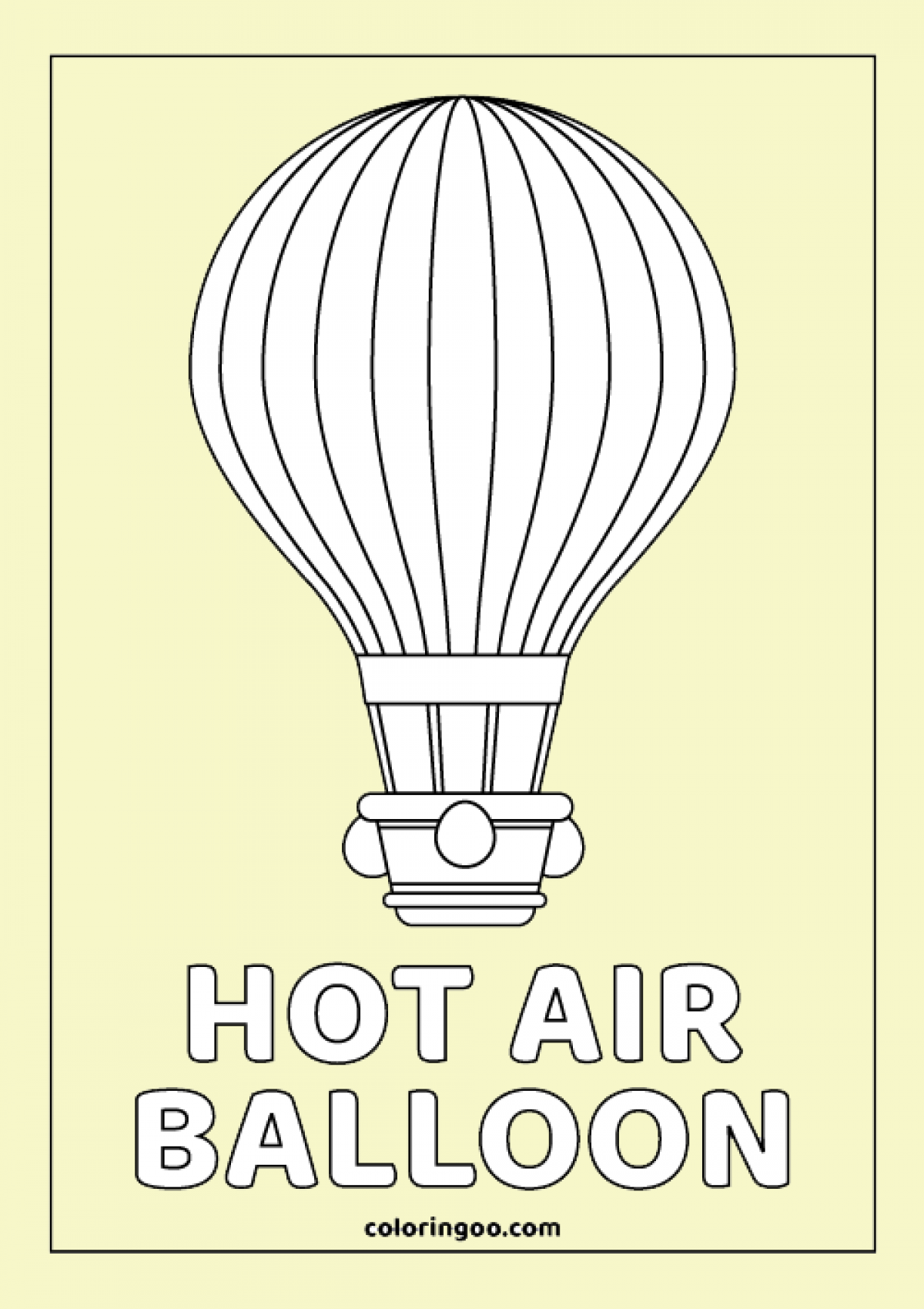 Hot air balloon coloring pages - timeless-miracle.com | 1699x1200