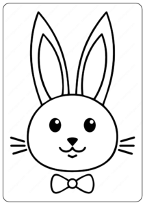 Rabbit Printable Coloring Pages For Kids