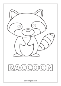 Raccoon Printable Coloring Pages For Kids