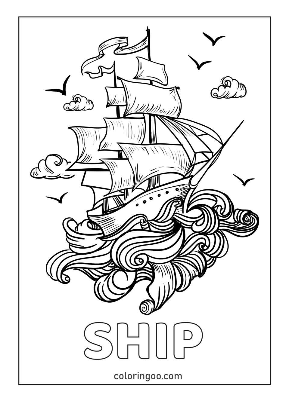 Ship Printable Coloring Pages & Pdf For Kids
