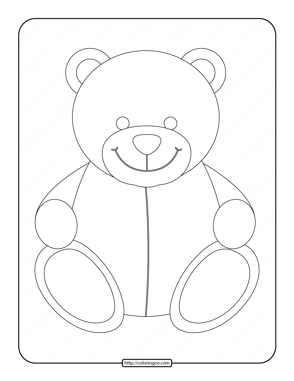 Teddy Bear Printable Coloring Pages For Kids