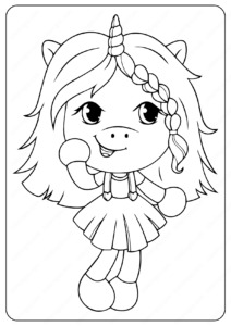 unicorn girl coloring pages