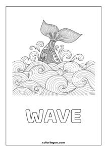 Wave Coloring Pages For Adults