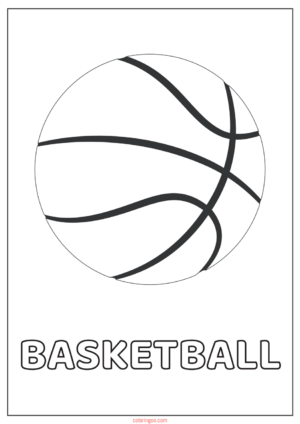 Basketball Printable Coloring Pages for Kids