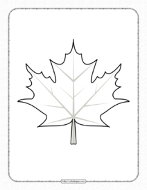 Leaf Printable Coloring Pages for Kids