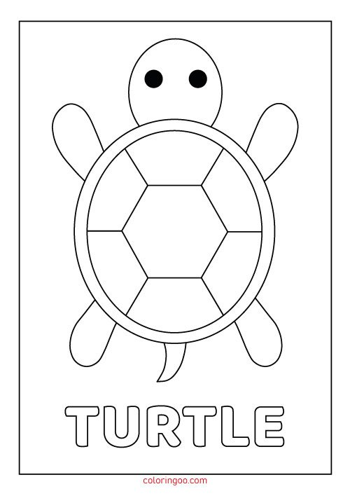 photograph relating to Printable Turtle called Turtle Printable Coloring Internet pages for Small children