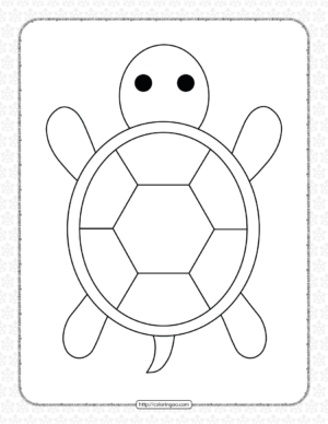 Turtle Printable Coloring Pages for Kids