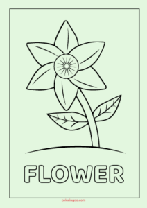 Flower Printable Coloring - Drawing Pages for Kids