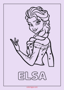 Frozen Elsa Printable Coloring Pages For Kids