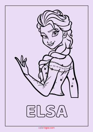 frozen elsa coloring drawing pages