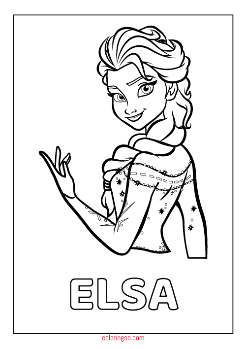 graphic about Elsa Printable known as Frozen Elsa Printable Coloring Webpages For Youngsters