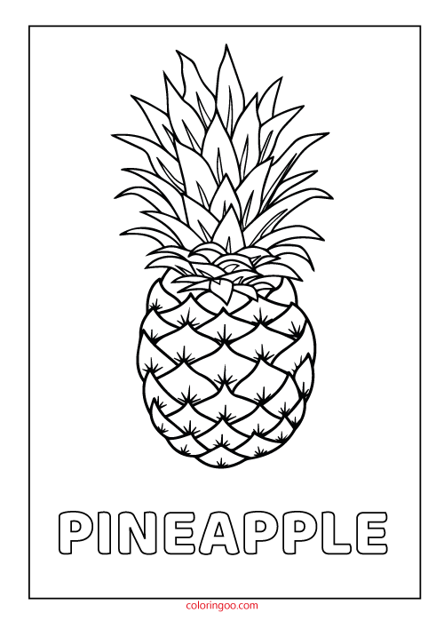 image regarding Printable Pineapple identify Pineapple Printable Coloring Drawing Webpages for Children