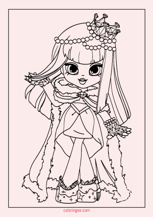 Shopkins Dolls Coloring Page