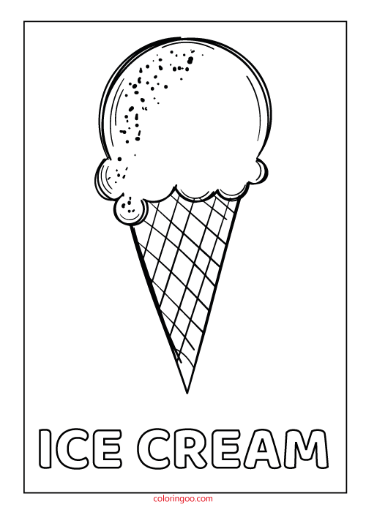 Printable Ice Cream PDF Coloring Pages for Kids