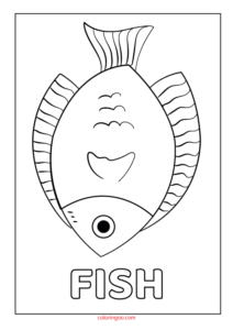 Printable Fish Coloring Page (PDF) for Kids