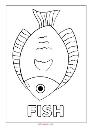 Printable Fish Coloring Page (PDF) for Kids