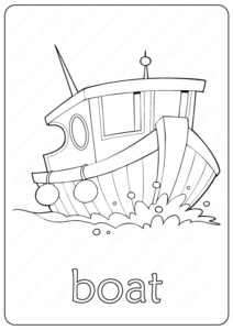 Printable Boat Coloring Page & Book PDF
