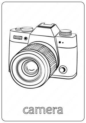 Hand Drawn Camera Coloring Pages PDF