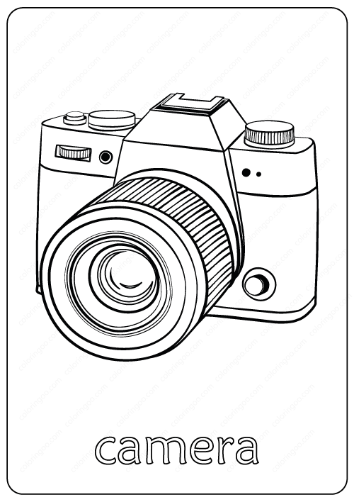 Camera Coloring Pages PDF