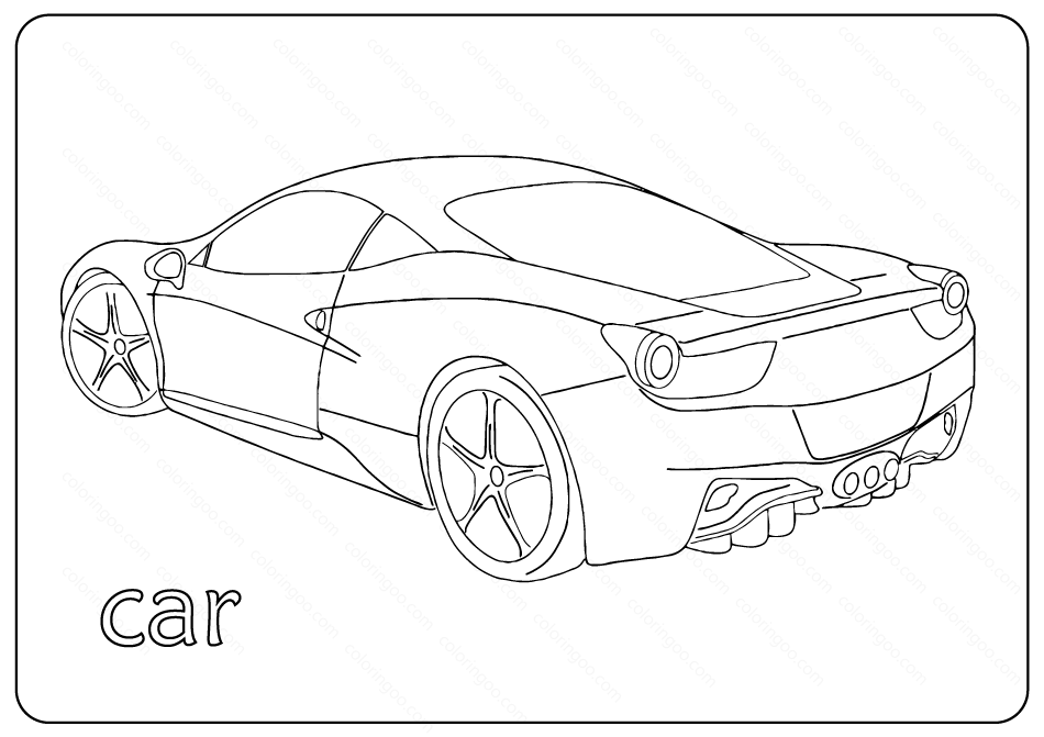 - Free Printable Cars Coloring Pages