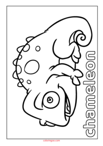 Printable Chameleon Coloring Page (PDF) for Kids