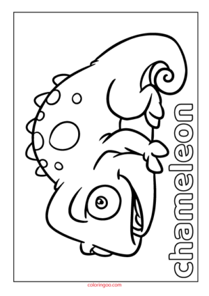 Chameleon Coloring Page pdf