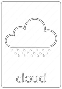 Printable Cloud Coloring Page - Book PDF