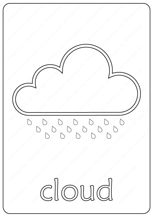 Printable Cloud Coloring Page pdf