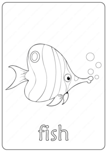 Printable Fish Coloring Page - Book PDF