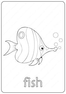 Printable Fish Coloring Page - Book PDF