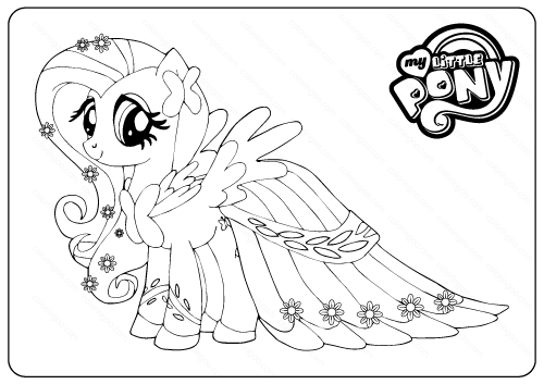 - Flattershy My Little Pony Coloring Pages