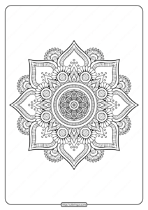 Floral Indian Mandala Coloring Pages PDF