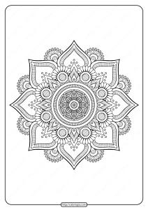 Floral Indian Mandala Coloring Pages PDF
