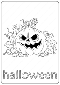 Printable Halloween Coloring Page - Book PDF