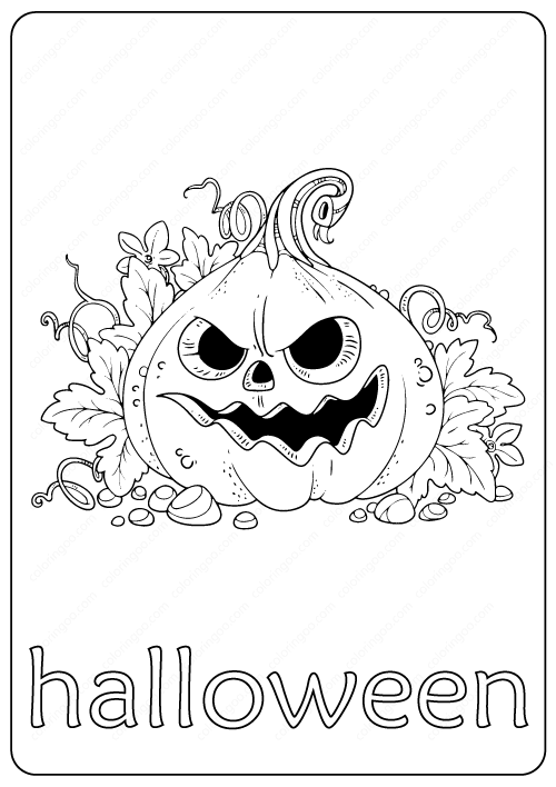 Printable Halloween Coloring Page pdf