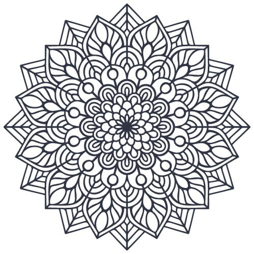 Cute Indian Mandala Coloring Pages PDF