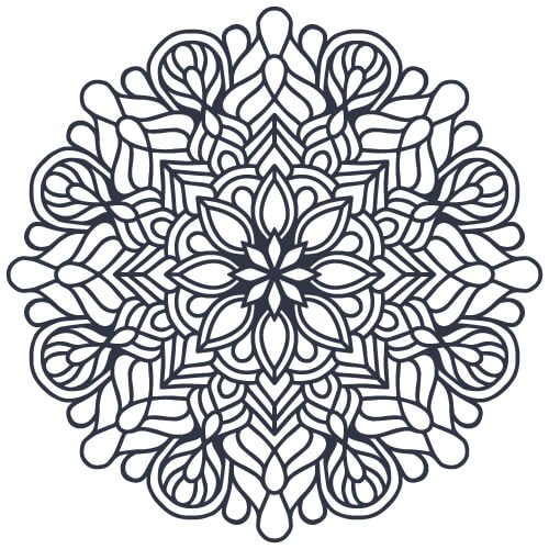 Indian Mandala Coloring Pages PDF