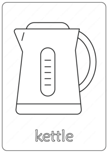 Printable Kettle Coloring Page - Book PDF
