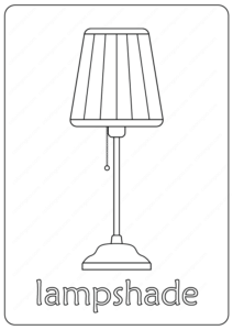 Printable Lampshade Coloring Pages