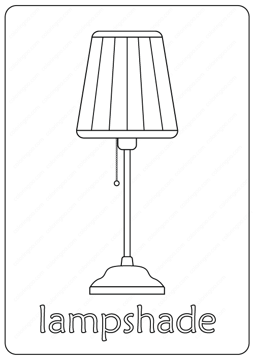Lampshade Coloring Pages