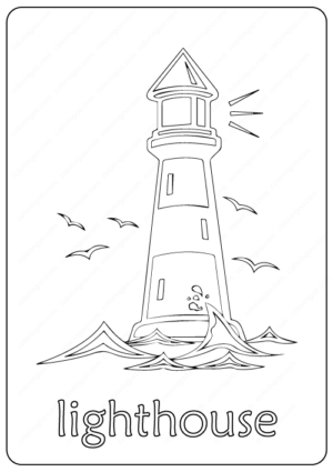 Printable Lighthouse Coloring Pages PD