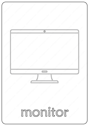 Printable Monitor Coloring & Drawing Pages PDF