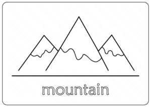 Printable Mountain Coloring Pages PDF