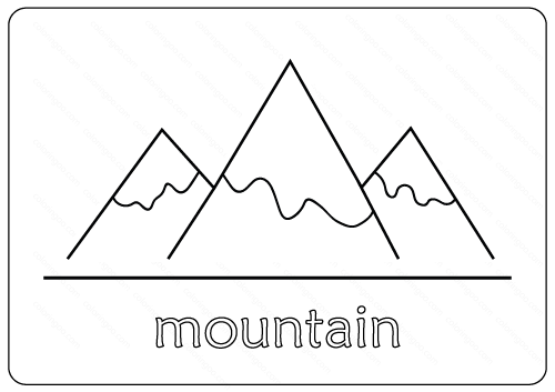 Mountain Coloring Pages PDF