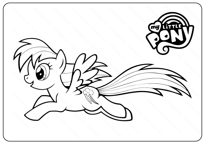 Printable My Little Pony Coloring Pages - Book PDF
