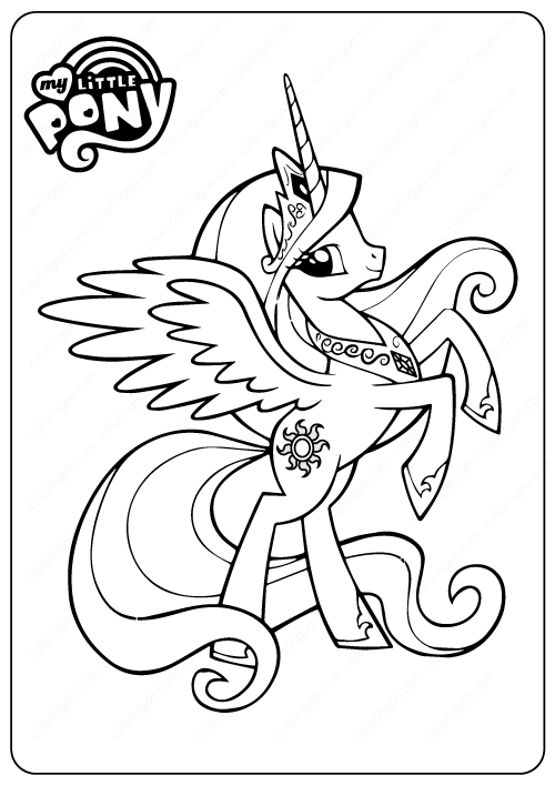 - Princess Celestia My Little Pony Coloring Pages